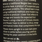 Description of beer on label