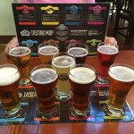Sampler flight at Granville Island Brewing