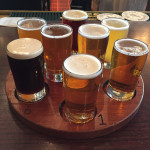 Heartland Brewery sampler flight