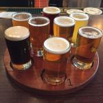 Heartland Brewery sampler flight