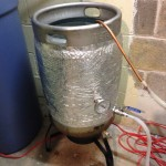Keg containing cold water