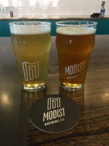 Pints at Modist Brewing