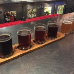 Morgan Street Brewery sampler flight