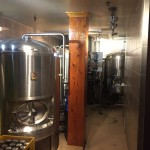 Brewing equipment at Pat's Pub & Brewhouse