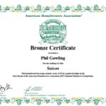 Bronze Certificate