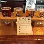 Sampler flight at Steam Works Brewing