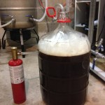 Aerating or oxygenating the Strong Bitter wort