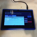 Tablet showing brewing temperature profile