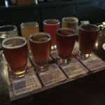 Sampler flight at Water Street Brewery, Milwaukee