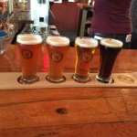 Sampler flight at Whistler Brewing