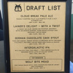 Draft List from Wolf Brewing